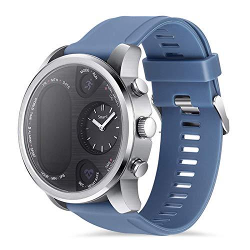 L.B.S Reloj Inteligente T3 Pro para Hombres y Mujeres, presión Arterial, frecuencia cardíaca, Tiempo Dual, rastreador de Actividad Bluetooth, Reloj Inteligente Deportivo para Android iOS(B)