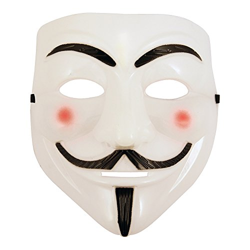 White V for Vendetta Anonymous Guy Fawkes Halloween Face Mask Fancy Dress Cosplay