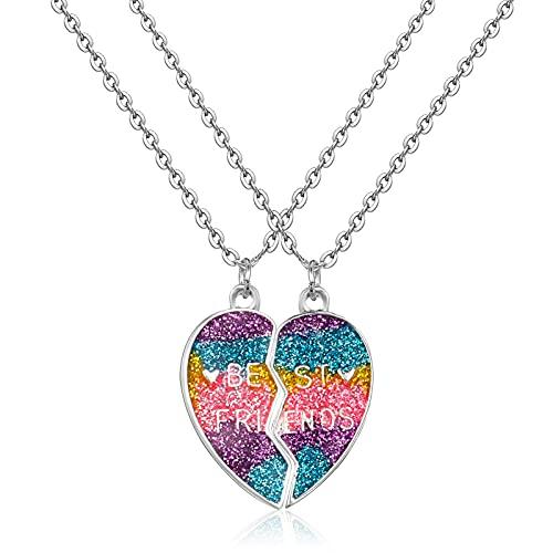 Xinstroe 2 Pcs Best Friends Necklaces, BFF Necklace for 2, Split Heart...
