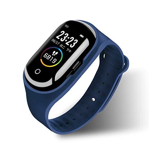 WEINANA Farbbildschirm Smartwatch Wireless Bluetooth 5.0 Kopfhörer Combo Smart Armband Schrittzähler Herzfrequenz Blutdruckmessung SmartWatch(Color:C.)