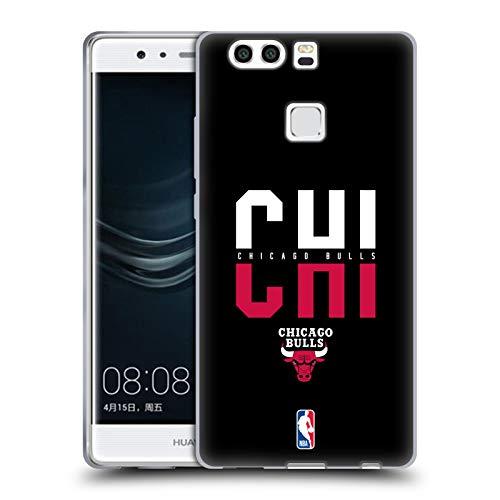 Head Case Designs Ufficiale NBA Tipografia 2019/20 Chicago Bulls Cover in Morbido Gel Compatibile con Huawei P9 Plus