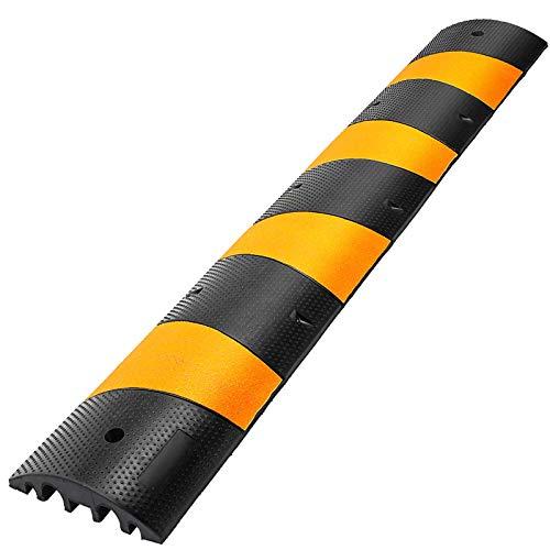 FlowerW Rubber Speed Bump Auffahrt Modulare Hochleistungsgeschwindigkeit 184x30.5x6cm Kabelschutz Kabelabdeckung Abdeckung (1 Stück 184x30.5x6cm)