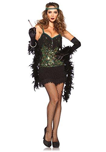 Leg Avenue Flapper-Kleid mit Pailletten, Größe M, Mehrfarbig