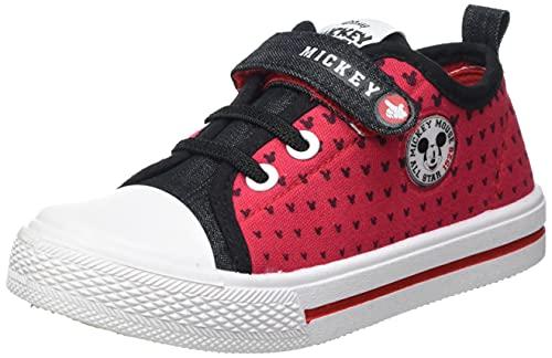 Cerdá Bambas Mickey Mouse para Niño de Color Rojo, Zapatillas, 29 EU