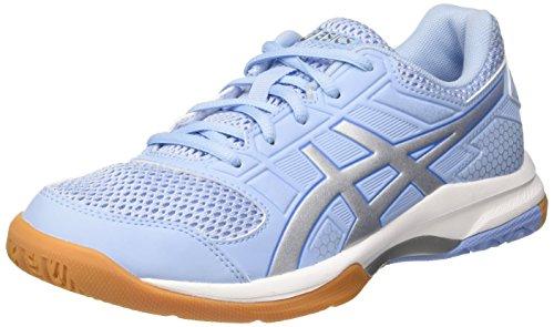 Asics Gel-Rocket 8, Zapatillas de Voleibol para Mujer, Azul (Airy Blue/Silver/White 3993), 42 EU
