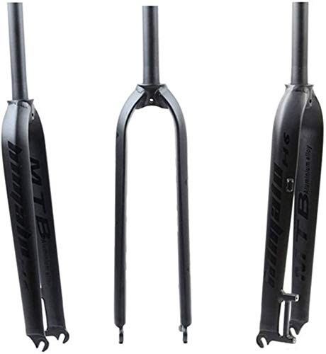 ZHTY Bike Suspension Fork 26' 27.5' Aluminum Alloy MTB Bicycle Front Forks 29' for Mountain Bikes QR 9mm 730g Bike Suspension Fork