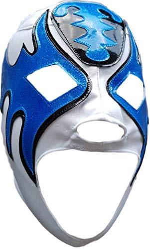 Wählen Sie Ihre Erwachsenengröße, Luchador Lucha Libre mexikanische Wrestling-Maske, Pro-Fit Maske - Blau - Einheitsgröße