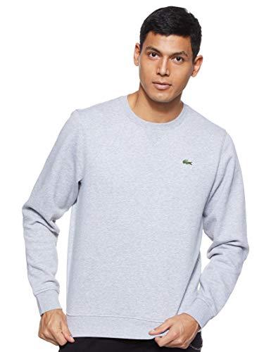 Lacoste Sport Herren SH7613 Sweatshirt, Grau (Argent Chine), Large (Herstellergröße: 5)