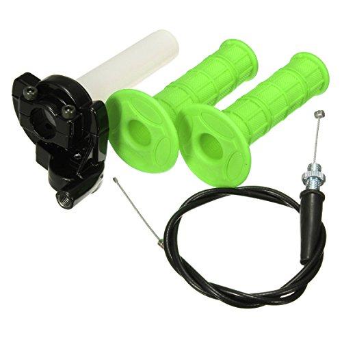 WCHAOEN 7/8 Zoll Gasgriff Twist mit Kabel für 110ccm 125ccm Pit Bike Motorrad Dune Buggys Ersatzteile