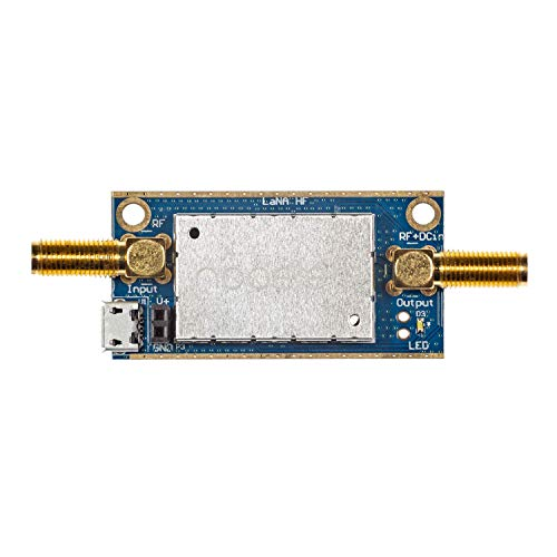 Lana HF Barebones - Ultra Low-Noise LF, MF & HF Amplifier (LNA) Module for RF & Software Defined Radio (SDR). Wideband 50kHz-150MHz Frequency Capability with Bias Tee & USB Power Options