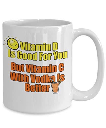 Vitamine is goed voor je, maar Vitamine c met wodka is beter mok zomer partij cadeau