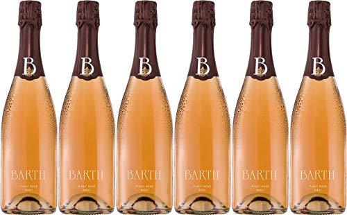 Barth Wein- und Sektgut Pinot Rosé Sekt Brut (herb) Bio (6 x 0.75 l)