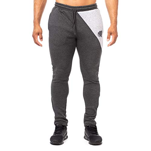 SMILODOX Slim Fit Herren Jogginghose | Trainingshose für Sport Fitness Gym Training & Freizeit | Sporthose - Jogger Pants - Sweatpants Hosen - Freizeithose Lang, Farbe:Anthrazit/Grau, Größe:XL