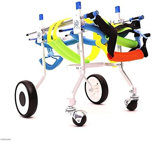 FXBFAG Sedia a rotelle Regolabile per Cani, per la Riabilitazione delle Zampe Posteriori 2 Ruote Ruote per carrelli per Cani Passeggini e deambulatori Standard Sedia a rotelle con Supporto posterio