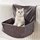 PiuPet Amaca per gatti termosifone - adatto a molti radiatori comuni - Cuccia gatto termosifone - adatto anche per gatti fino a 7 kg