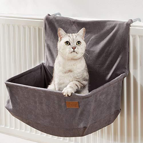 PiuPet® Katzen Heizungsliege - passend für alle gängigen Heizkörper - Katzenhängematte Heizung - für Katzen bis 7kg geeignet - Hängematte Katze