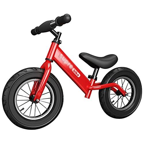 Durable Bicicleta de equilibrio de acero al carbono Marco de acero sin pedal para bicicletas de entrenamiento de 2 a 6 años de edad, niñas, niñas, niños y niños pequeños, regalo de cumpleaños de prime