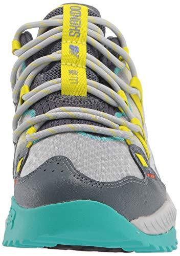 New Balance Women's DynaSoft Shando V1 Sneaker, Light Aluminum/Sulphur Yellow/Lead, 5 Wide