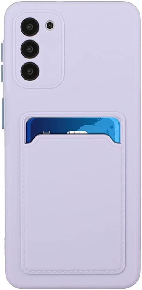 Galaxy S20 FE Case for Girls Women Men Credit Card Slots Holder Protective Cover Shockproof Thin Slim Fit Soft TPU Bumper Silicone Wallet Phone Case for Samsung Galaxy S20 FE 5G 6.5