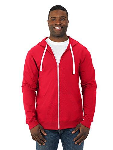Fruit of the Loom Men's Jersey Full-Zip Hood, Fiery Red, XXX-Large