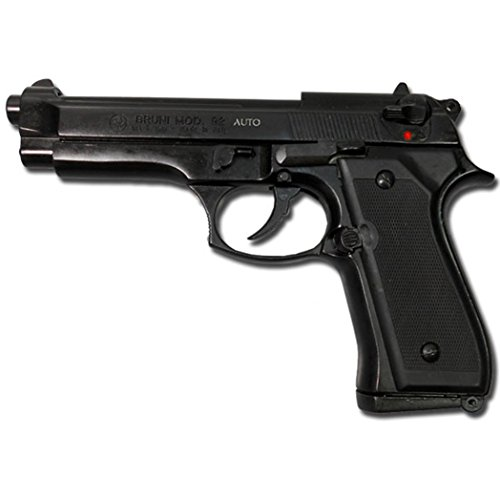 Bruni - Pistola de fogueo Beretta 92, 9 mm, color negro