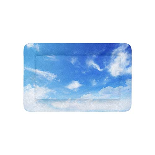 Blauer Himmel Mit Weißen Wolken Extra Große Individuell Bedruckte Bettwäsche Weiche Hundebett Couch Für Welpen Und Katzen Möbel Matte Höhlenauflage Kissen Innen Geschenk Lieferanten 36 X 23 Zoll