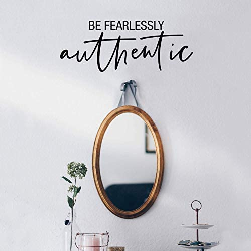 Vinyl Wall Art Decal Be Fearlessly Authentic 8 5 x 22 Modern Inspirational Positive Quote Sticker product image
