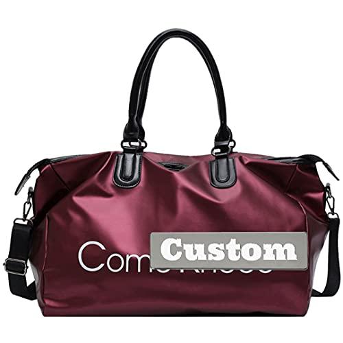 artizan Nome personalizzato Borsa extra Uomo GRANDE Travel Tote per le donne Big Big Beach Bag Canvas Gym Tote (Color : Hong-da, Size : One size)