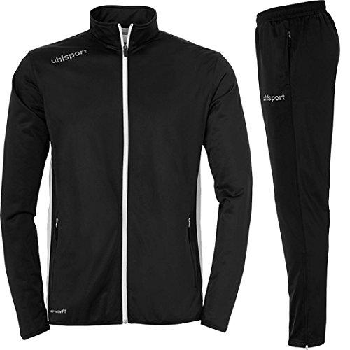 Sportartikelland uhlsport Team Classic Trainingsanzug schwarz für Kinder und Erwachsene auf Wunsch mit Aufdruck Name (schwarz, L)