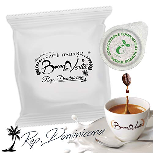 Coffee Pods Republica Dominicana (Santo Domingo Carmen AA) | ECO Capsule 100 Pods Type 44mm ESE|Bocca Della Verita.