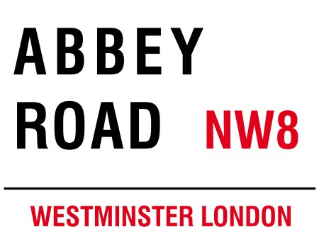 BlechschilderWelt Plaque en t/ôle London Street Sign Abbey Road Westminster NW8 Blanc