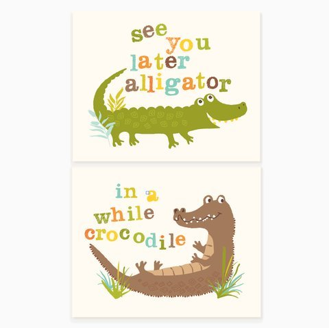 Sea Urchin Studio - Art Print Set - See You Later, Alligator