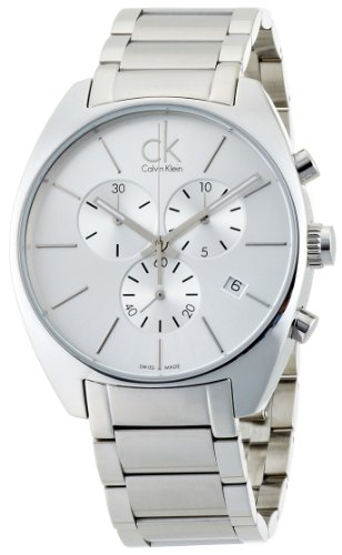 Calvin Klein K2F27126 - Reloj de Caballero de Cuarzo, Correa de Acero Inoxidable Color Plata