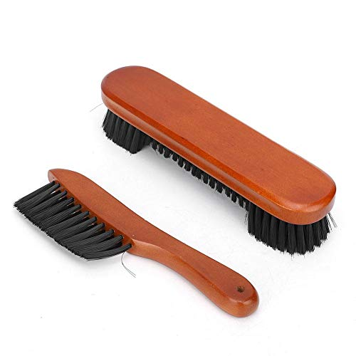 Alomejor Billiard Brush 2 Pcs Pool Snooker Table Brush Wooden Billiards Pool Table and Rail Brush for Table Cleaning