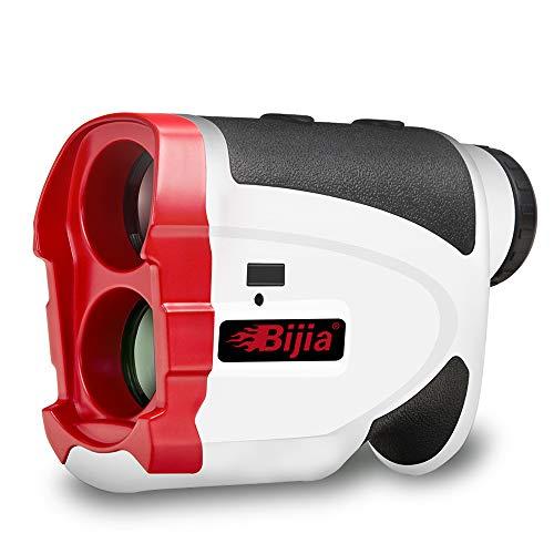 BIJIA Telémetro de Golf Pendiente, telémetro de 650 Yardas con Bloqueo de Bandera y vibración, Velocidad, ángulo, escaneo, medición de Distancia, Aumento 6X, Estuche de Transporte, batería Gratis