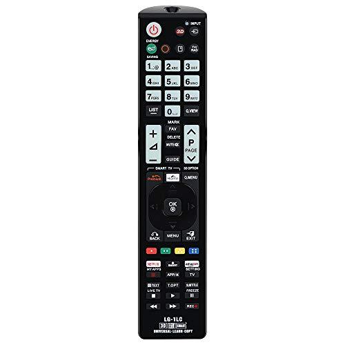 Alkia Universelle Lichtfernsteuerung LG-1LC für LG TV/Learn/HDTV/ 3D/ LCD/LED, Funktioniert mit Allen LG Fernsehern (LED, LCD, Plasma)