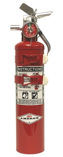 Amerex C352TS, 2.5lb Halon 1211 Class B C Fire Extinguisher, with Aircraft Bracket