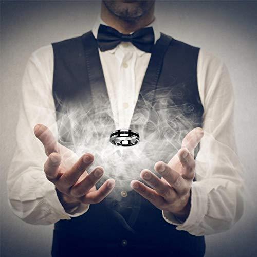 hinffinity Schwimmring Magic Toys Suspension Ring Magic Requisiten für Bühne Mentalismus, Magie, schwarzer Kreis, magnetischer Ring