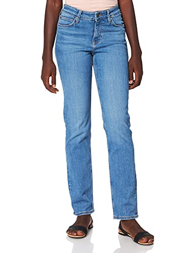 Lee Marion Straight Jeans, Mid Lina, 34W x 33L para Mujer