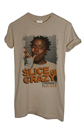 MUSH T-Shirt Orange is The New Black Slice of Crazy - Film by Dress Your Style - Damen-XL Sand