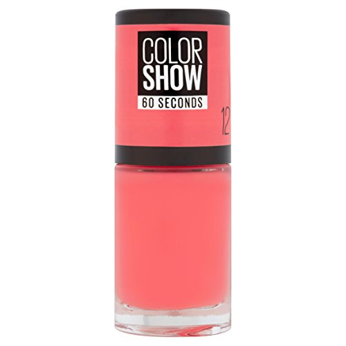 Gemey Maybelline Colorshow - Nagellack - 12 Sunset Cosmo - intensiver Koralle-Ton