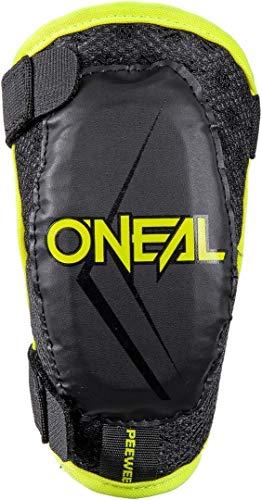 O'NEAL | Ellenbogenprotektor | Kinder | Motocross Enduro | Bequeme & dynamische Passform, Verstellbar durch elastische Bänder, Alter 4-9 Jahre | Pee Wee Elbow Guard | Schwarz Neon-Gelb | Größe XS/S