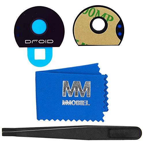 MMOBIELLinse von Rück Back Kamera kompatibel mit Motorola Moto Z/Z Play und Z Force Droid mit Pinzette und Tuch
