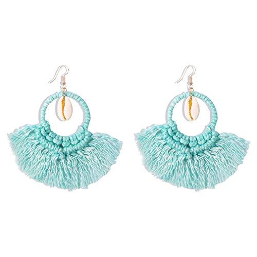 Ai.Moichien Dangle Drop Earrings Shell Thread Tassels Ethnic Bohemia Gold Plated Jewelry Elegant Women Sensitive Ears Accessories