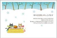 寒中見舞いはがき10枚パック(ねここたつ-02)《切手付き/裏面印刷済み》