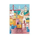 GANGPAO Vintage-Poster, farbiges Poster, Lissabon,