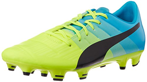 Puma Evopower 3.3 FG, Botas de fútbol para Hombre, Gelb (Safety Yellow-Black-Atomic Blue 01), 41 EU