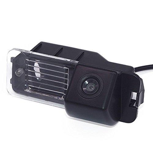 Rückfahrkamera KFZ Rückfahrsystem mit Distanzlinien Kennzeichenleuchte für VW Golf VI 6 MK6 MK7 GTI GTD R20 Lupo Scirocco Passat B7 CC/EOS GP/Amarok (2H)/Beetle