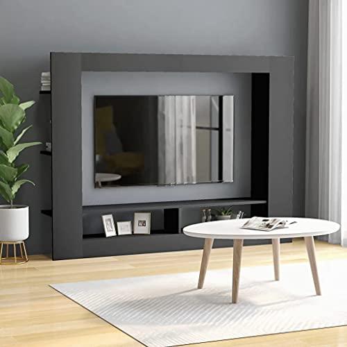 vidaXL Mobile Porta TV Arredi Casa Hifi Elegante Moderno Robusto Armadietto Credenza Multimediale Grigio 152x22x113 cm in Truciolato