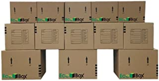 EcoBox Brand Moving Kit, 13 Small, Medium, and Large Boxes Plus Supplies